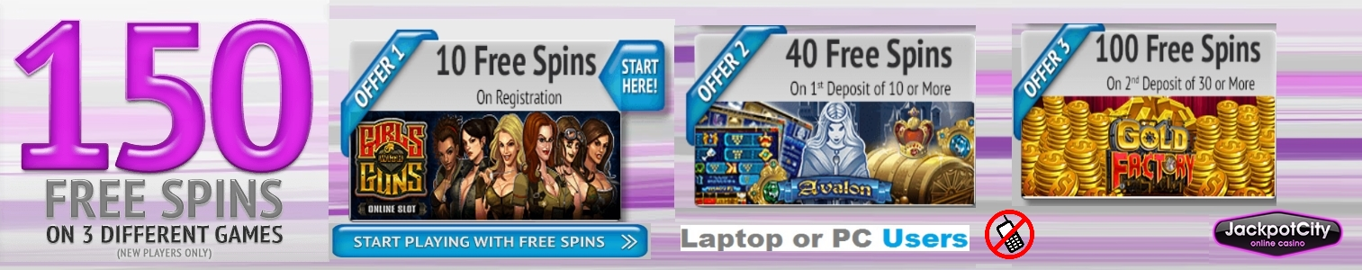 JACKPOT CITY NO DEPOSIT BONUS
